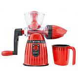 Соковыжималка и мороженица ручная 2 в 1 Kitchen Master LMY 662 Красная, фото 2