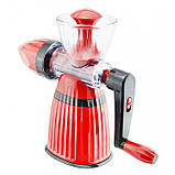 Соковыжималка и мороженица ручная 2 в 1 Kitchen Master LMY 662 Красная, фото 3