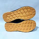 Мужские зимние спортивные кожаные ботинки теплые кроссовки на меху Черные, фото 8