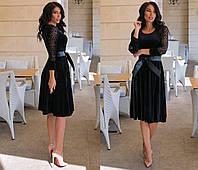 Жіноче плаття,Тканина -трикотаж принт напилення, креп дайвінг ,з декором (50-56), фото 1
