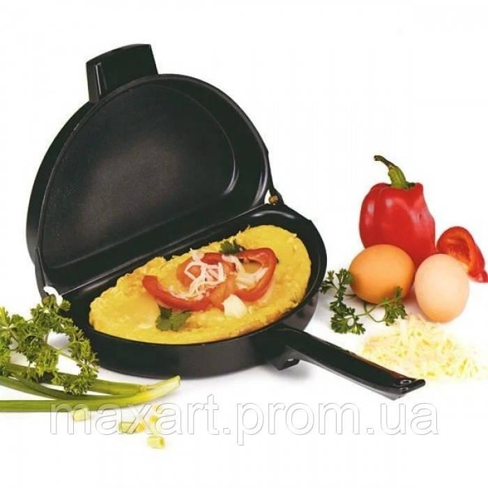 Двойная сковорода для омлета антипригарная Folding Omelette Pan