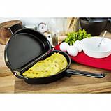 Двойная сковорода для омлета антипригарная Folding Omelette Pan, фото 2