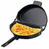 Двойная сковорода для омлета антипригарная Folding Omelette Pan, фото 3