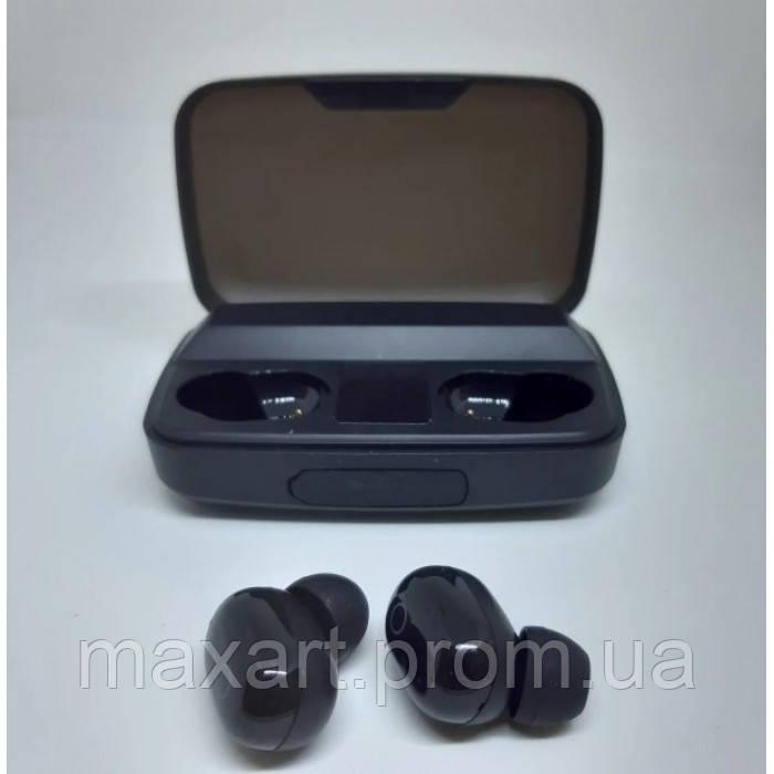Наушники вакуумные беспроводные J16 BT LCD+POWERBANK Чёрные