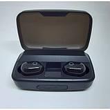 Наушники вакуумные беспроводные J16 BT LCD+POWERBANK Чёрные, фото 2