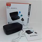 Наушники вакуумные беспроводные J16 BT LCD+POWERBANK Чёрные, фото 5