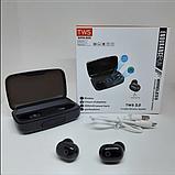 Наушники вакуумные беспроводные J16 BT LCD+POWERBANK Чёрные, фото 6