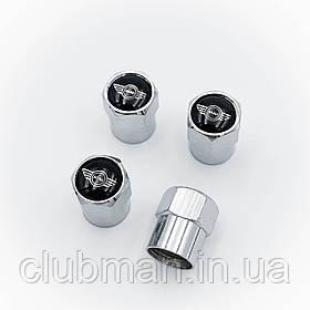 Защитные колпачки на ниппеля MINI (Мини)  Cooper One S R50 R53 R56 R60 F55 F56 4 шт Крылья Cеребристые