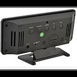 Зеркальные LED часы с будильником и термометром VST-888Y Чёрные зеленная подсветка, фото 3