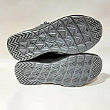 Мужские зимние кожаные спортивные ботинки теплые кроссовки на меху Черные, фото 8