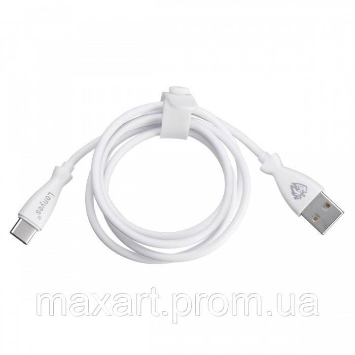 Кабель, шнур Lenyes LC901 USB-MICRO USB провод 2,4A Белый