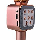 Беспроводной микрофон караоке блютуз WS1818 Bluetooth Розово-Золотой, фото 2