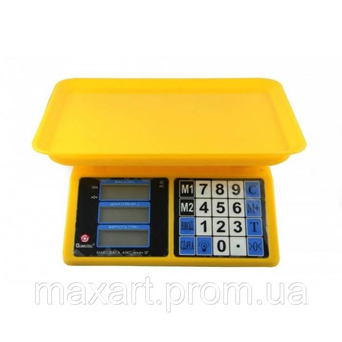 Торговые электронные весы Domotec ACS 40KG/5G MS 266 до 40 кг 4V