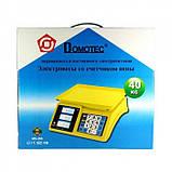 Торговые электронные весы Domotec ACS 40KG/5G MS 266 до 40 кг 4V, фото 4