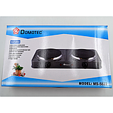 Плита электрическая двухкомфорная Domotec MS-5822 2000W электроплита, фото 3