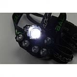 Налобный фонарь BL POLICE BL-T78 158000W T6 фонарик 1700 Lumen + УФ, фото 2