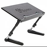 Регулируемая Подставка для ноутбука кулер столик с охлаждением AIR SPACE ЧЁРНЫЙ, фото 2