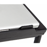 Регулируемая Подставка для ноутбука кулер столик с охлаждением AIR SPACE ЧЁРНЫЙ, фото 5