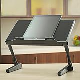 Регулируемая Подставка для ноутбука кулер столик с охлаждением AIR SPACE ЧЁРНЫЙ, фото 6