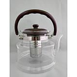 Стеклянный чайник-заварник А-Плюс TK-1047 1,6 литра, фото 3
