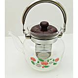 Стеклянный чайник-заварник А-Плюс TK-1041 800 мл, фото 2