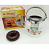 Стеклянный чайник-заварник А-Плюс TK-1041 800 мл, фото 4
