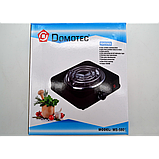 Плита электрическая однокомфорочная спиральная Domotec MS-5801 1000W электроплита СЕРАЯ, фото 3