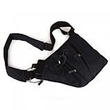 Мужская сумка Cross Body 4634 Мессенджер антивор на плечо рюкзак слинг Чёрная, фото 3