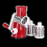 Ручная овощерезка-терка с насадками Kitchen Master 5140 Красная, фото 2