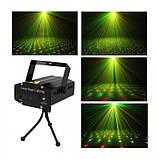 Лазерный проектор, стробоскоп, диско лазер UKC HJ08 4 в 1 c триногой Чёрный 4053, фото 6