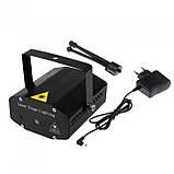 Лазерный проектор, стробоскоп, диско лазер UKC HJ08 4 в 1 c триногой Чёрный 4053, фото 7