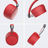 Беспроводные Bluetooth стерео наушники Gorsun GS-E95 Красные, фото 3