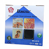 Электронные напольные весы Domotec MS-2019 до 180 кг с ЖК дисплеем Разноцветные квадратики, фото 5