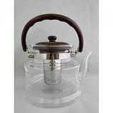 Стеклянный чайник-заварник А-Плюс TK-1042 1,4 литра, фото 2