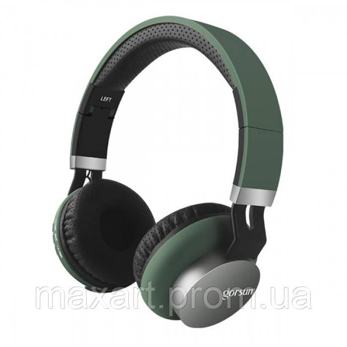 Беспроводные Bluetooth Стерео наушники Gorsun GS-E89 Тёмно-Зелёные