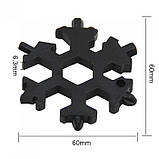 18 в 1 Мультитул отвертка в виде снежинки snowflake wrench tool, фото 2