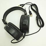 Наушники проводные A1 игровые с микрофоном Чёрные, фото 5