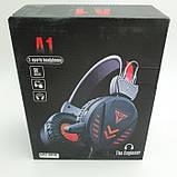 Наушники проводные A1 игровые с микрофоном Чёрные, фото 6