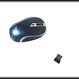 Мышка беспроводная оптическая G179 мышь Синяя, фото 4
