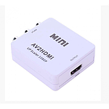 Конвертер RCA (AV) CVBS на HDMI адаптер видео с аудио 1080P, фото 3