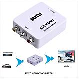 Конвертер RCA (AV) CVBS на HDMI адаптер видео с аудио 1080P, фото 4