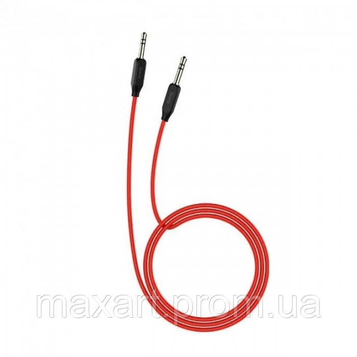AUX аудио кабель HOCO (UPA-11) 1 метр Черный с красным