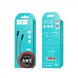 AUX аудио кабель HOCO (UPA-11) 1 метр Черный с красным, фото 4