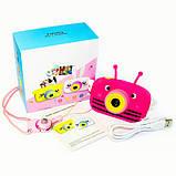 Детский цифровой фотоаппарат Розовая Пчелка 2 Камеры Children`s fun Original  20Мп Full HD 1080p, фото 4