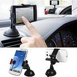 Универсальный автомобильный держатель для телефона на 1 зажим, фото 4