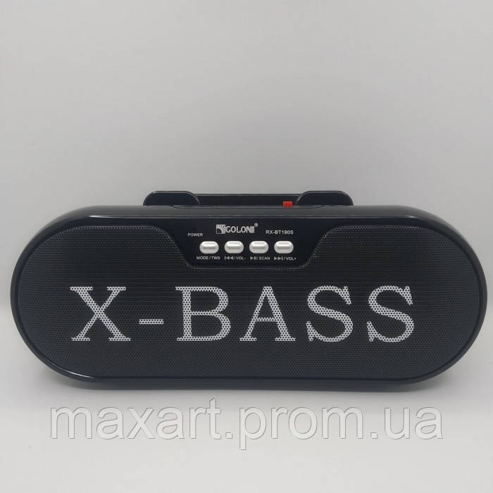 Портативная колонка, акустика GOLON RX-BT190S с солнечной панелью Чёрный