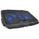 Охлаждающая подставка для ноутбуков Laptop Cooler S18 с подсветкой на 4 вентилятора, фото 2