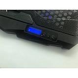 Охлаждающая подставка для ноутбуков Laptop Cooler S18 с подсветкой на 4 вентилятора, фото 5