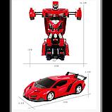 Машинка Трансформер Lamborghini Robot Car Size 1:18 С ПУЛЬТОМ Красная, фото 2