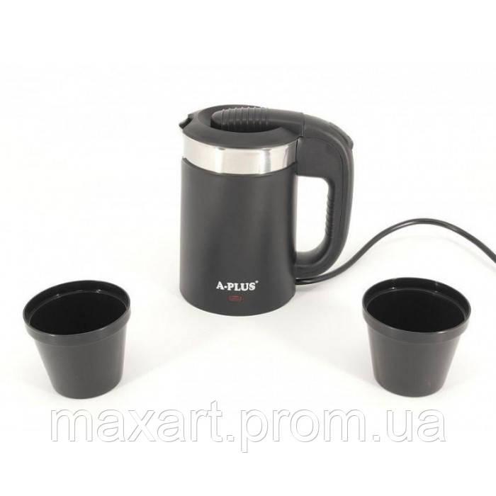 Чайник электрический A-Plus 1519 0,5 л от сети 220V Чёрный